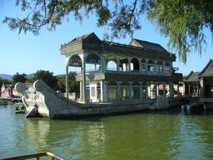 Beijing Summer Palace: The Marble Boat - No, it does not float