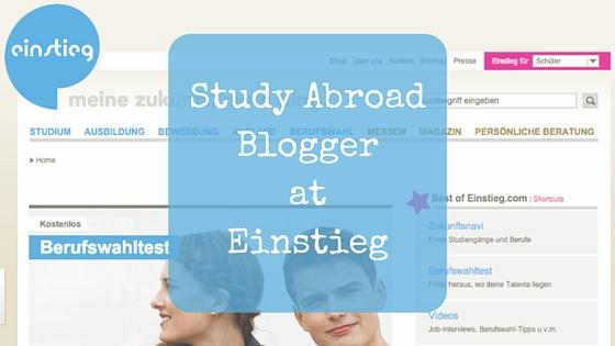 MariaAbroad new Study Abroad Blogger for Einstieg.com