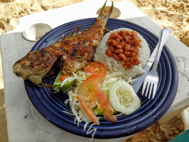 Fresh Grilled Fish - Sosua Beach