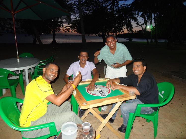 Playing Dominos at Sosua Beach