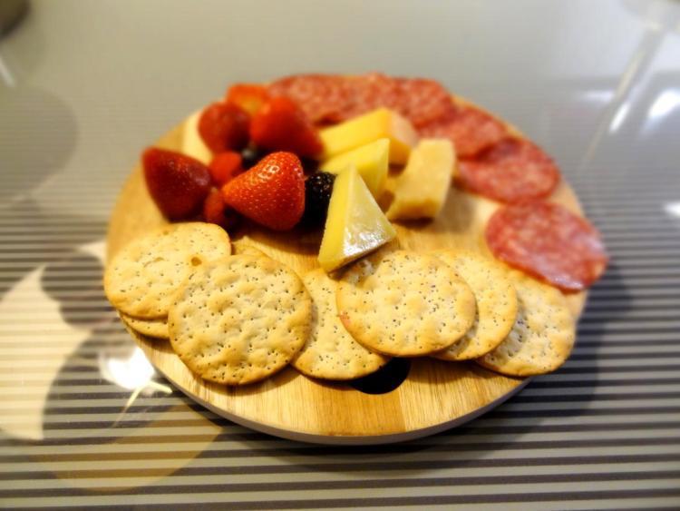 Hotel Rouge Washington DC Cheese and Fruit Tray