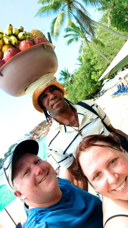 Jackie the fruit guy- Sosua Beach