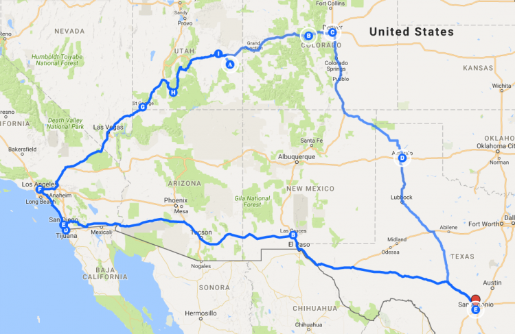 Road Trip USA Map