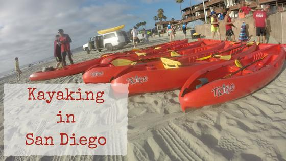 Kayaking in San Diego at La Jolla Cove