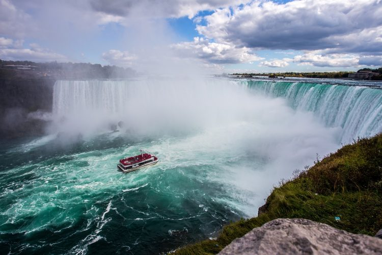 Boat below Niagara Falls - Things to do in Upstate NY