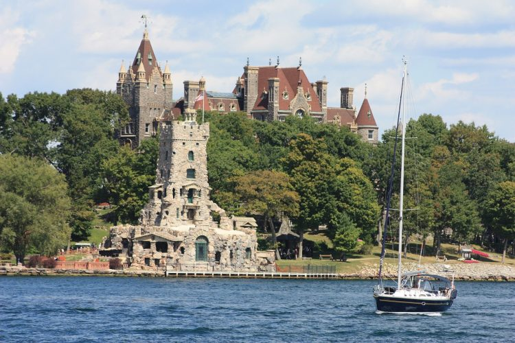Lake Ontario with Boldt Castle in the Background - Top Things to do in Upstate NY