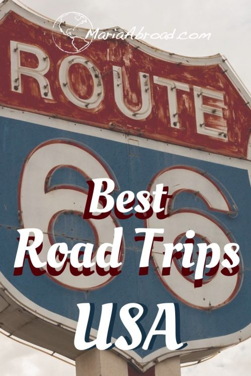 The US is the perfect Road Trip country. Here are our top 5 road trips in the US, from iconic road trips like Route 66 to lesser-known ones in Hawaii and Alaska. There is a US Road Trip for everyone! #Roadtrip #roadtrips #usa #usatravel #usatrip #usaroadtrip #roadtripusa #traveltips #roadtriptips #traveltip #Travel #traveling #america #US #UStravel #UStrip #route66 #Cars #Carrental