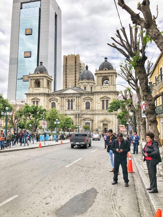 Plaza Pedro in La Paz Bolivia