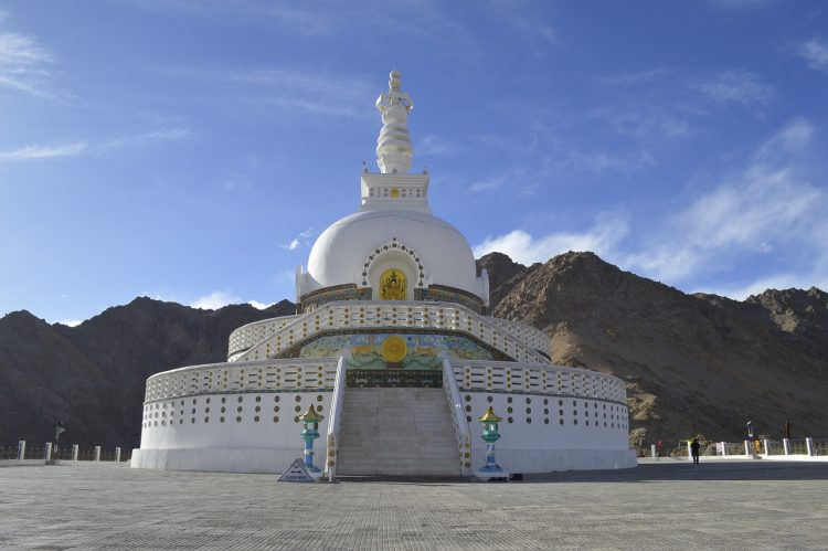 Places to See in Ladakh - Shanti Stupa