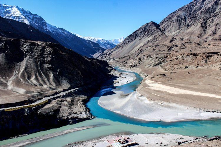 Zanskar River in the Ladakh mountains